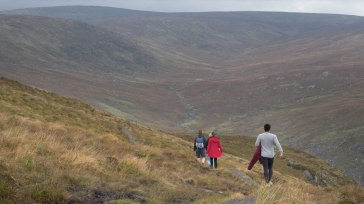Hiking with friends in County Wicklow